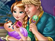 آنا وكريستوف واطعام طفلهم الصغير