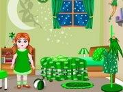 ديكور الغرفة الخضراء