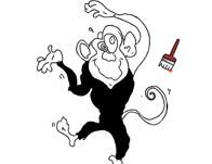 تلوين القرد المرح