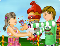 الاطفال والحلوي