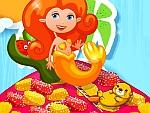 كعكة عروسة البحر السحرية