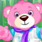 تلبيس الدب الوردي الصغير