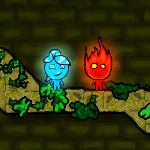 لعبة فتاة الماء وفتي النار فى الغابات