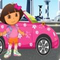 لعبة دورا وموقف السيارات