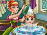 استحمام طفل الاميرة آنا