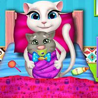 طفل القطة انجيلا
