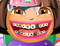 دورا عند طبيب الاسنان