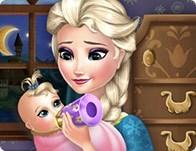 السا المجمدة تطعم الطفل elsa frozen