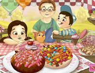 الاطفال والكعك