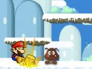 تساقط الثلج سوبر ماريو