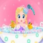 استحمام طفلة باربي