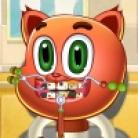 تنظيف اسنان القط الظريف
