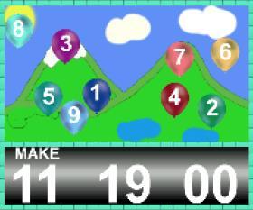 لعبة بلالين الارقام لتعليم الاطفال الجمع