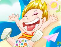 اللعب على زحليقة الاطفال | العاب اطفال