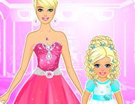 تصفيف شعر الأميرة وطفلتها