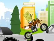 لعبة سبونج بوب الدراجة النارية