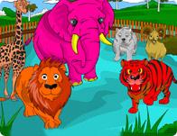 تلوين حديقة الحيوانات